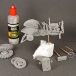 Model is primed and ready to paint, Ferguson by Heller