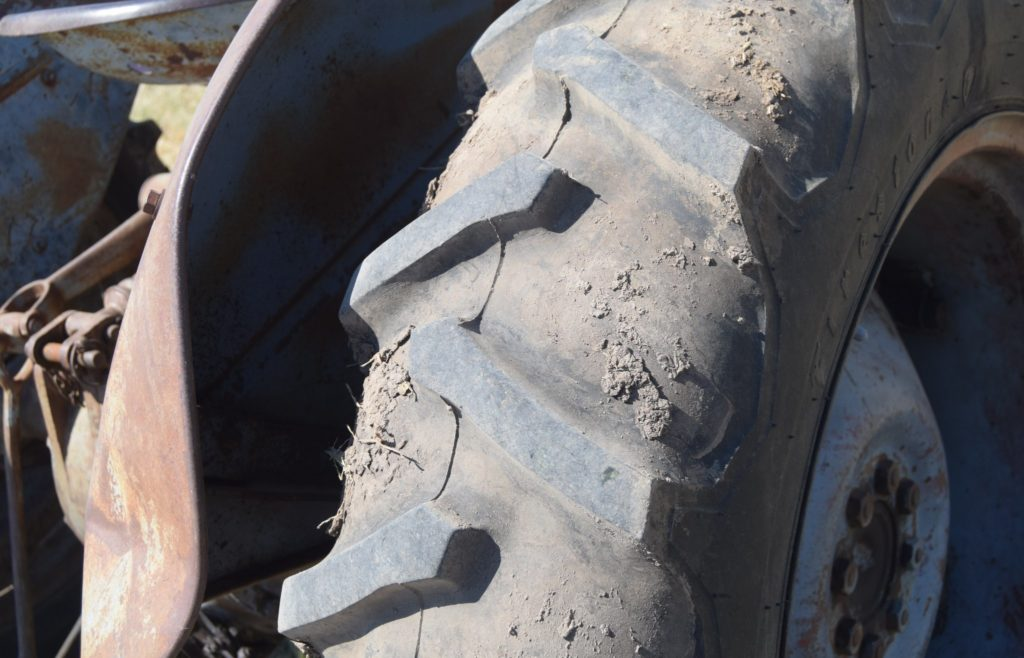 The tyre of a real Ferguson