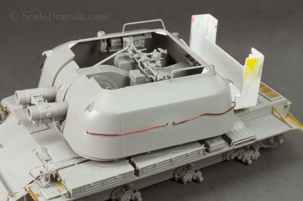 Rear structure attached, ZSU-57 by TAKOM
