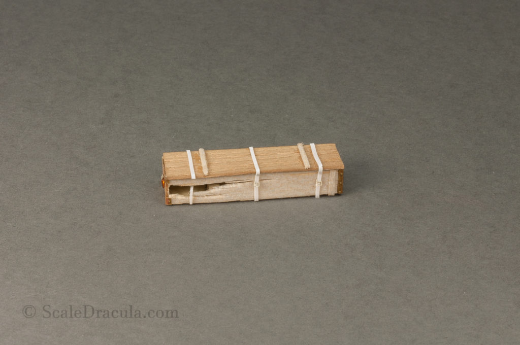 Details of the wooden crate, ZSU-57 by TAKOM