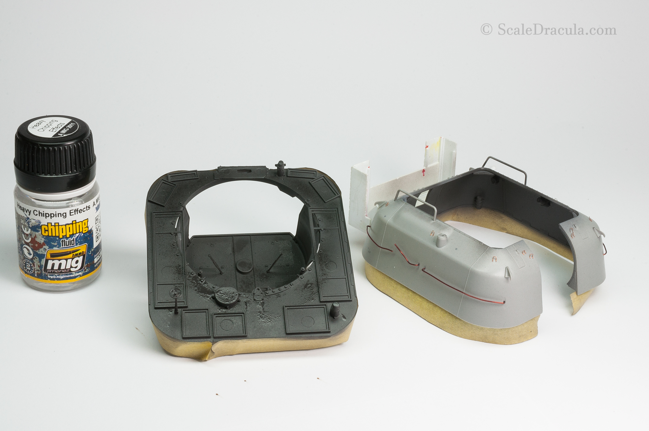 Heavy chipping fluid on the interior, ZSU-57 by TAKOM