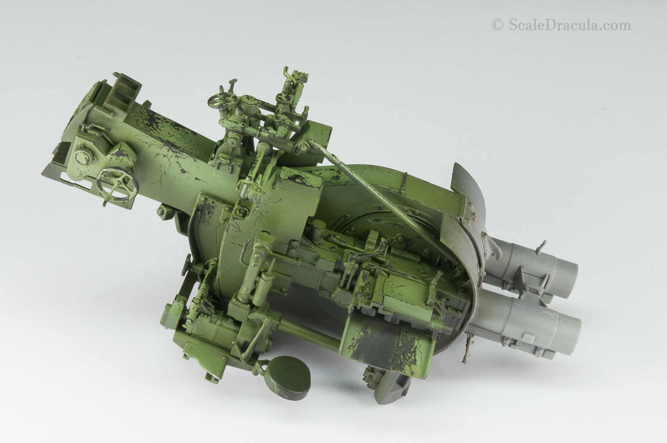 Cannon after chipping, ZSU-57 by TAKOM
