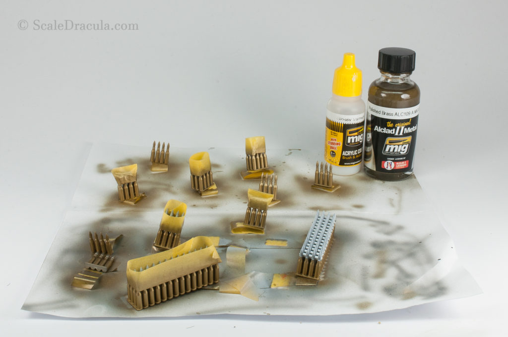 Ammo painted with Alclad polished brass, ZSU-57 by TAKOM