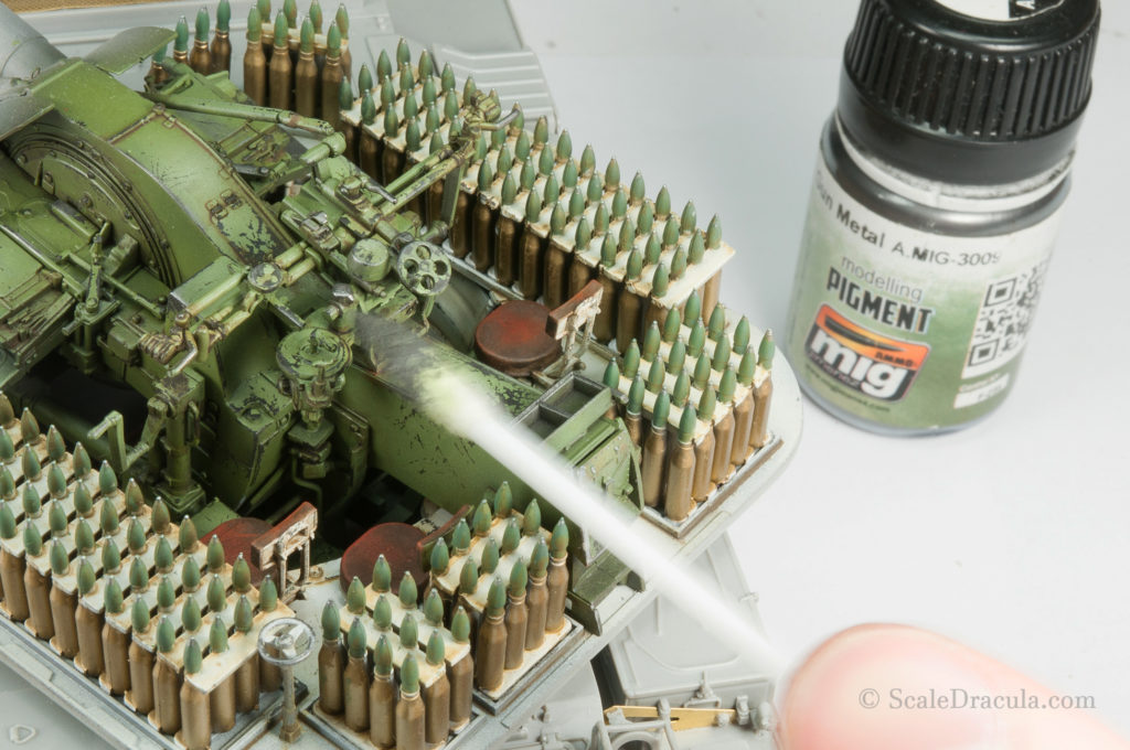Gun metal pigment on the cannon, ZSU-57 by TAKOM