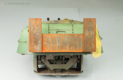 Rusty metal painted with oils, ZSU-57 by TAKOM