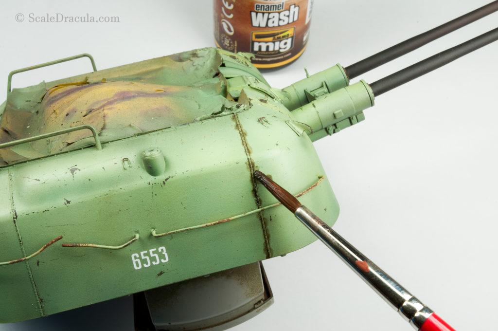 Ammo Mig enamel wash, ZSU-57 by TAKOM