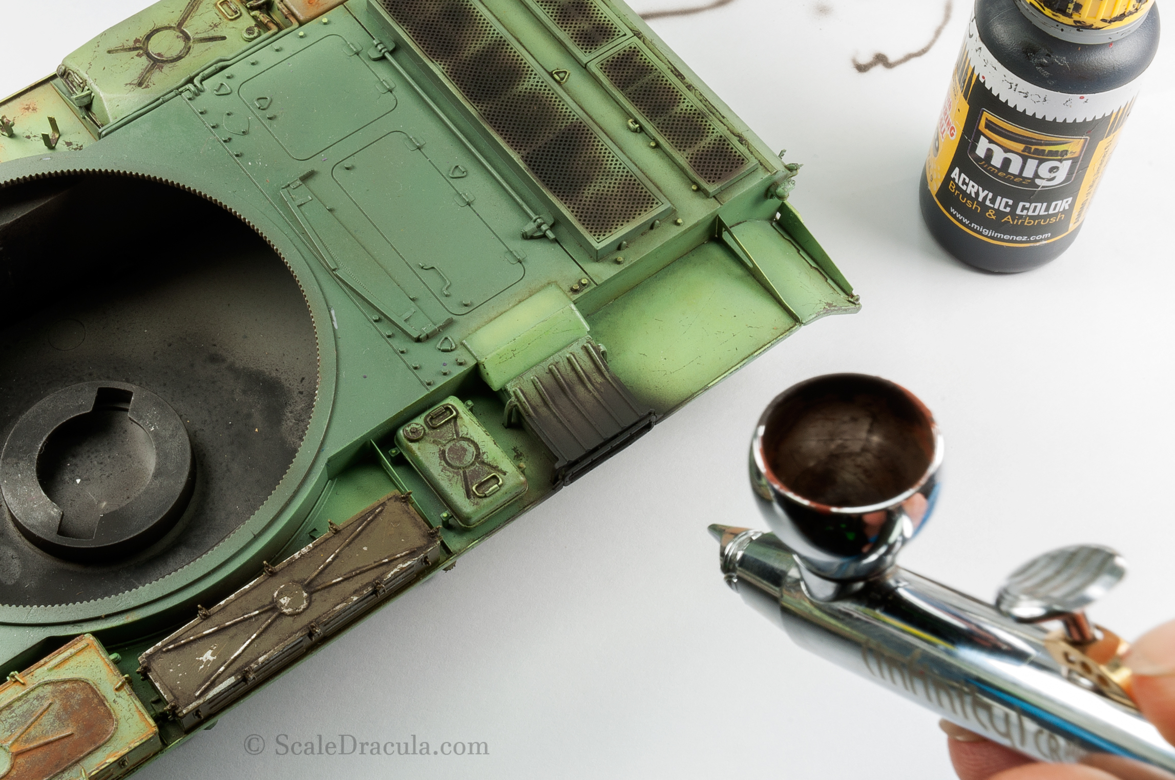 Painting the exhaust, ZSU-57 by TAKOM