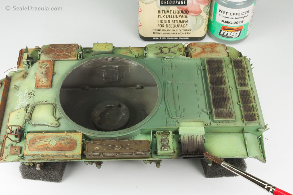 Weathering the exhaust, ZSU-57 by TAKOM