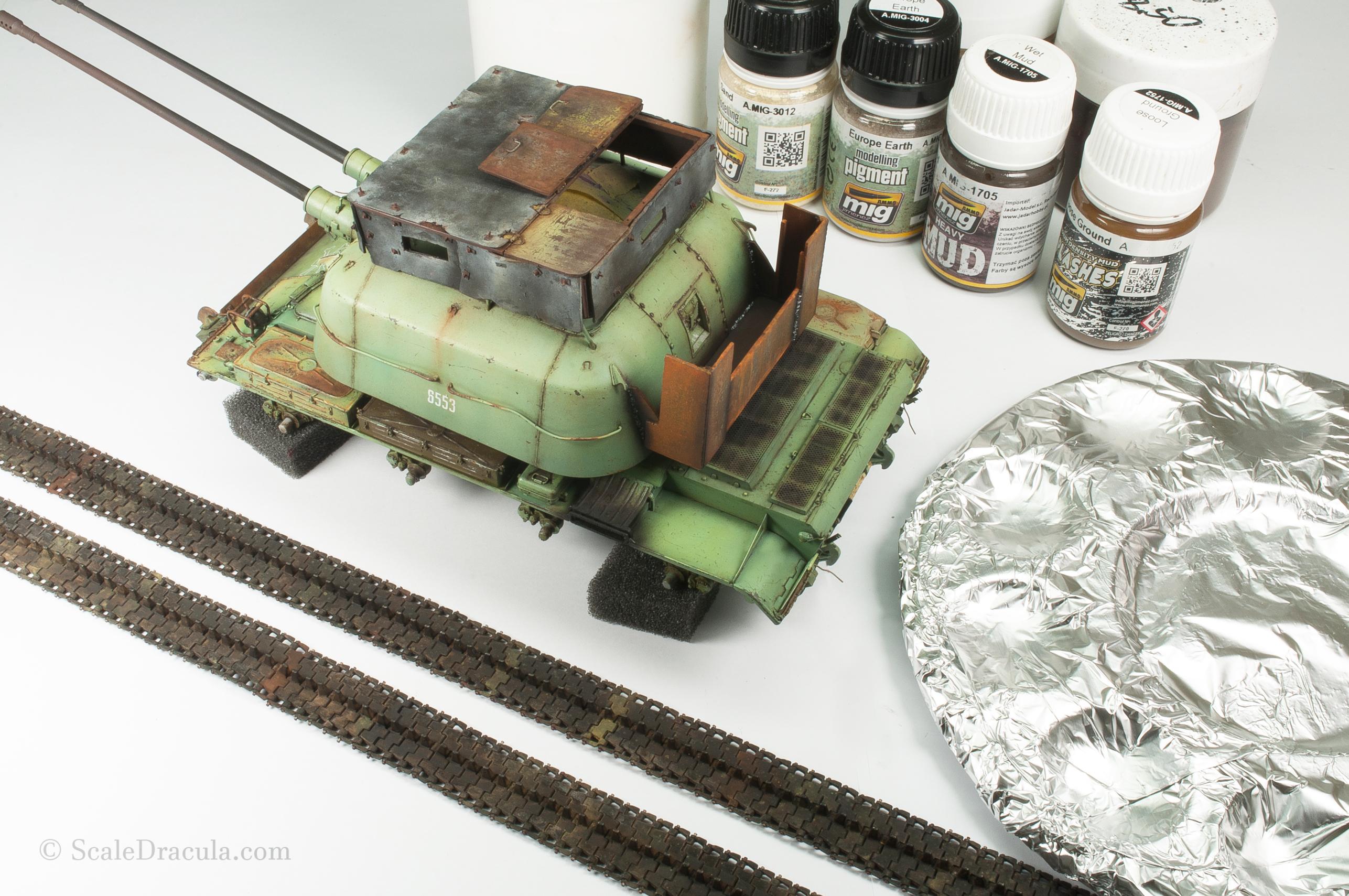 Model is ready to get muddy, ZSU-57 by TAKOM