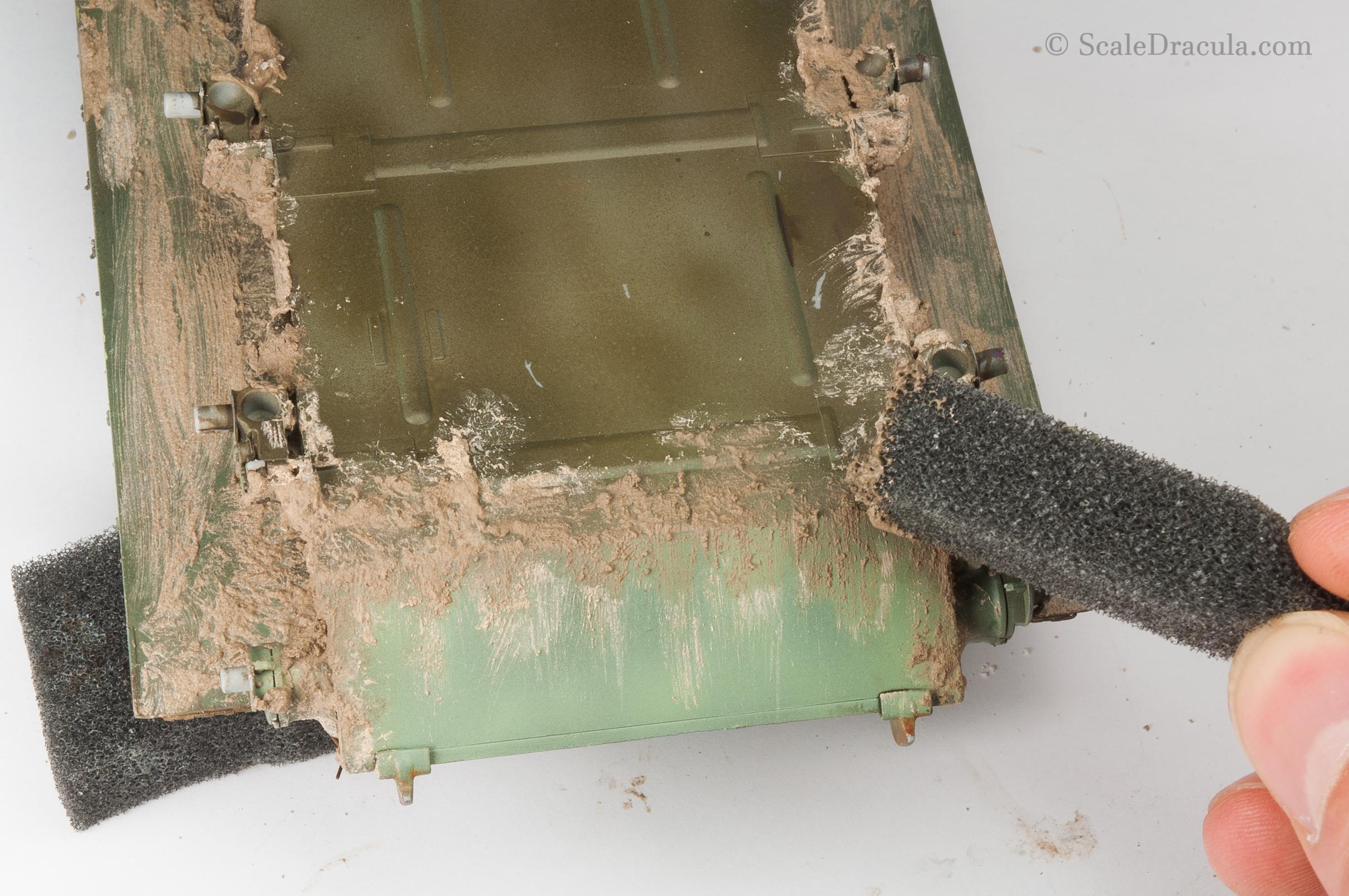 Mud textured with a sponge, ZSU-57 by TAKOM
