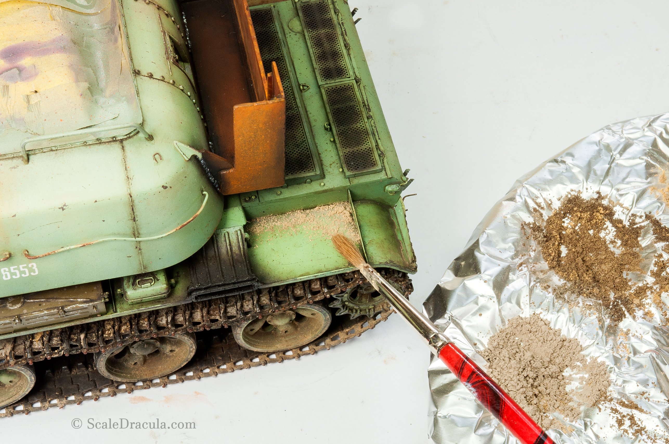 Pigment on the fender, ZSU-57 by TAKOM