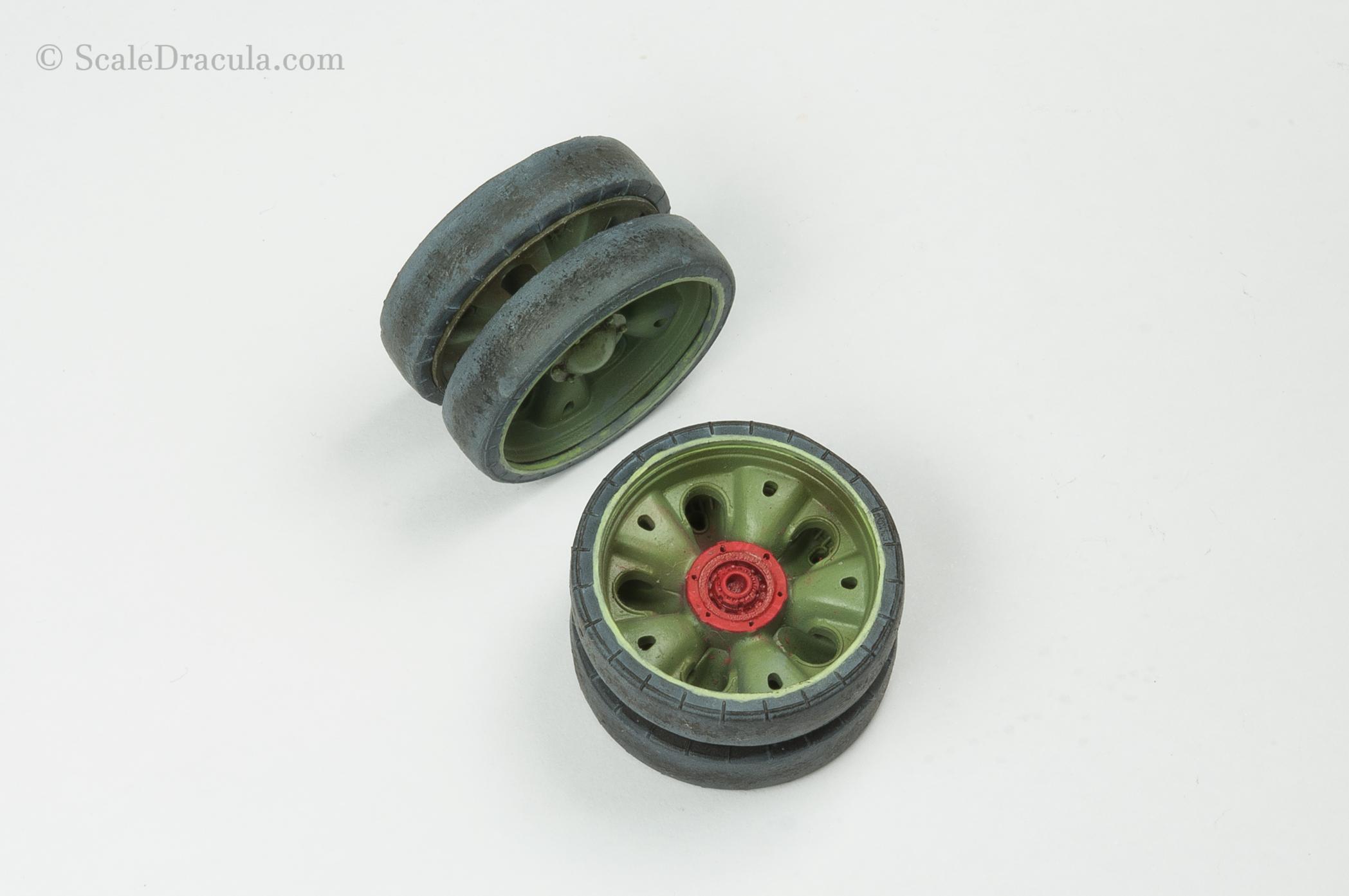 Painted wheeels, ZSU-57 by TAKOM