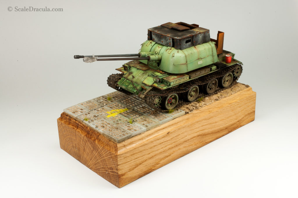 Finished base for ZSU-57-3