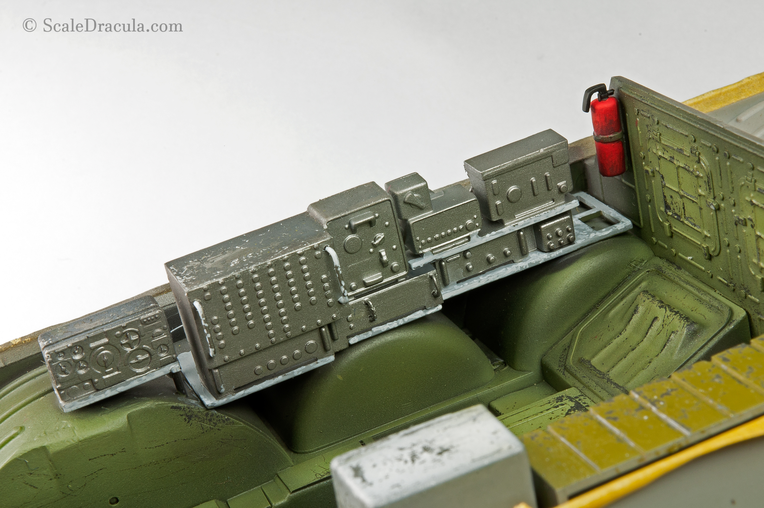 Radio painted with base colour, BRDM-2 by Trumpeter