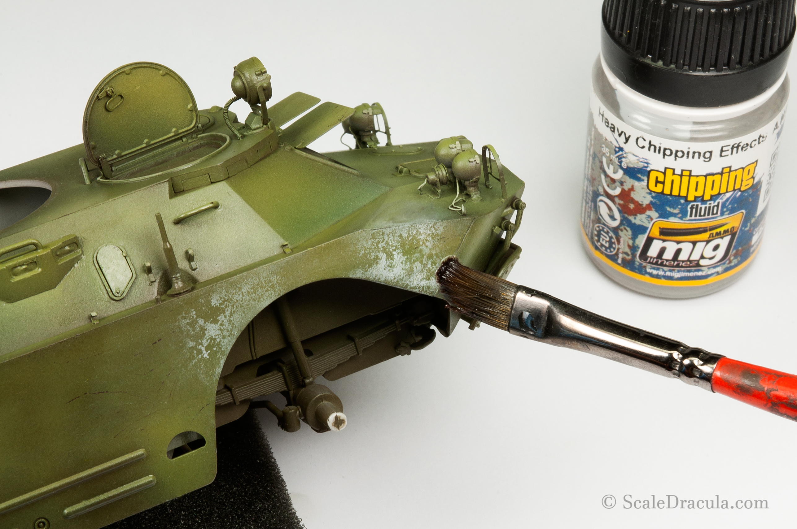 Chipping white camouflage, BRDM-2 by Trumpeter