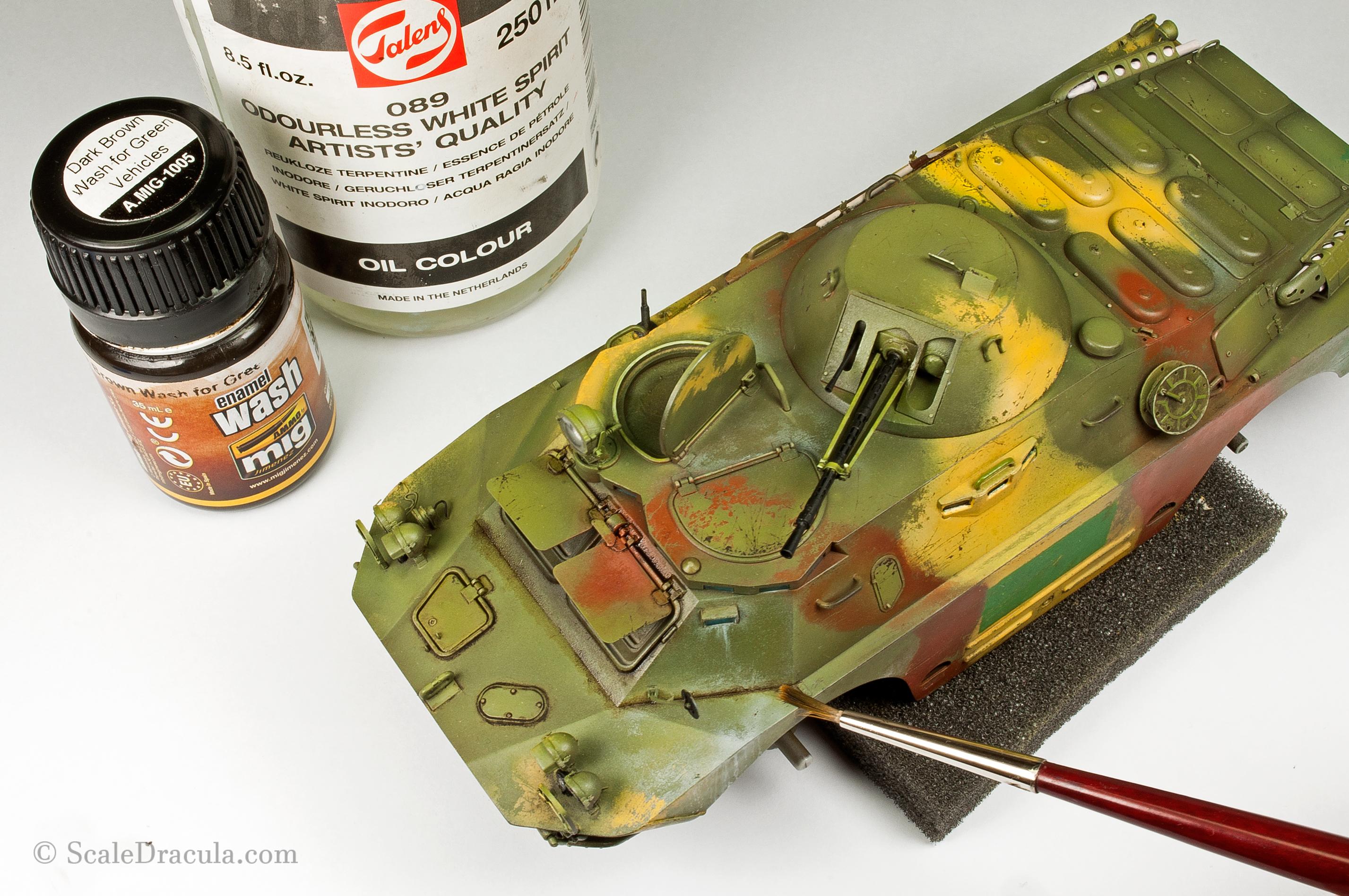 Dark brown wash, BRDM-2 by Trumpeter