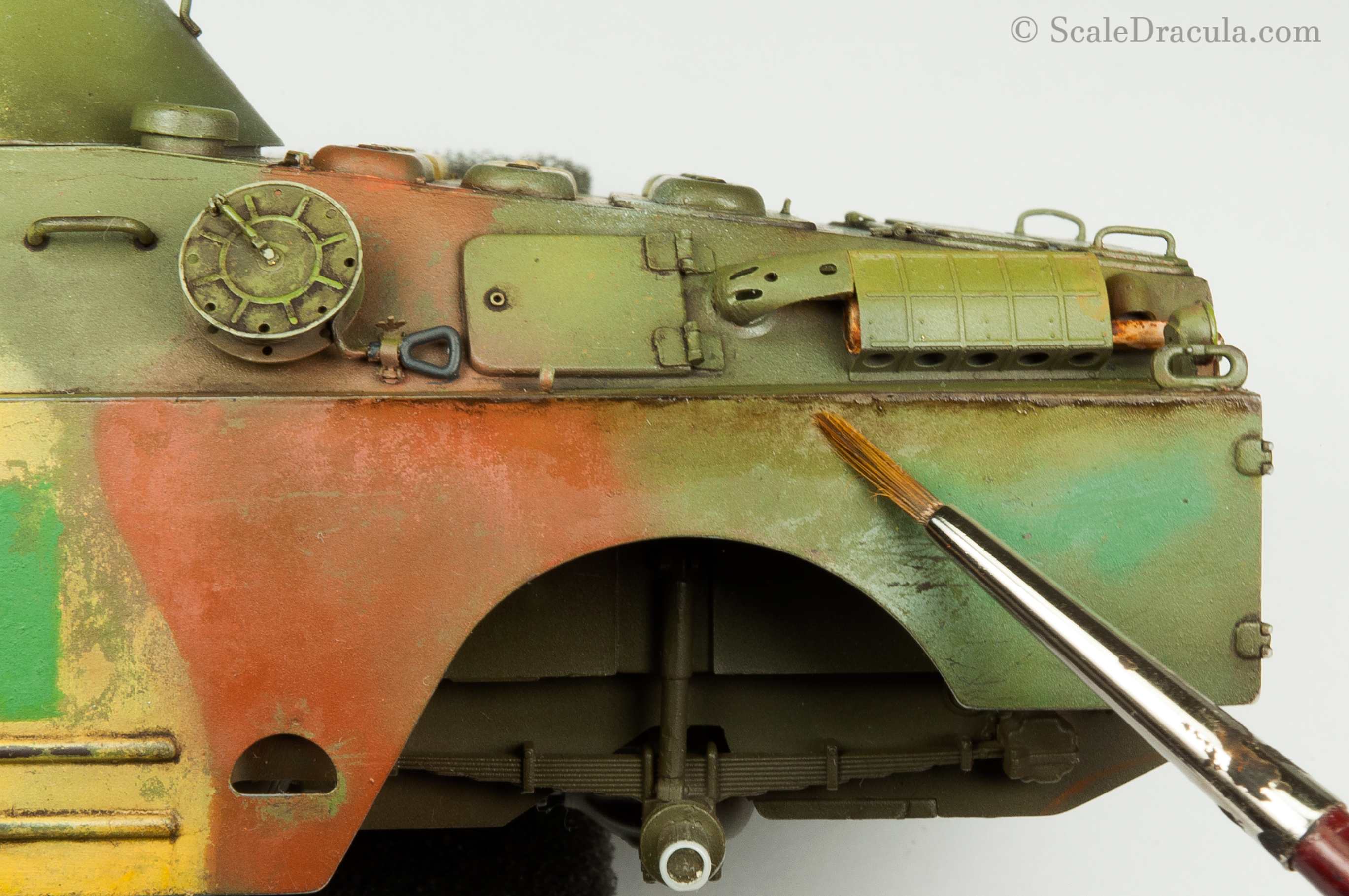 Weathering with oils, BRDM-2 by Trumpeter
