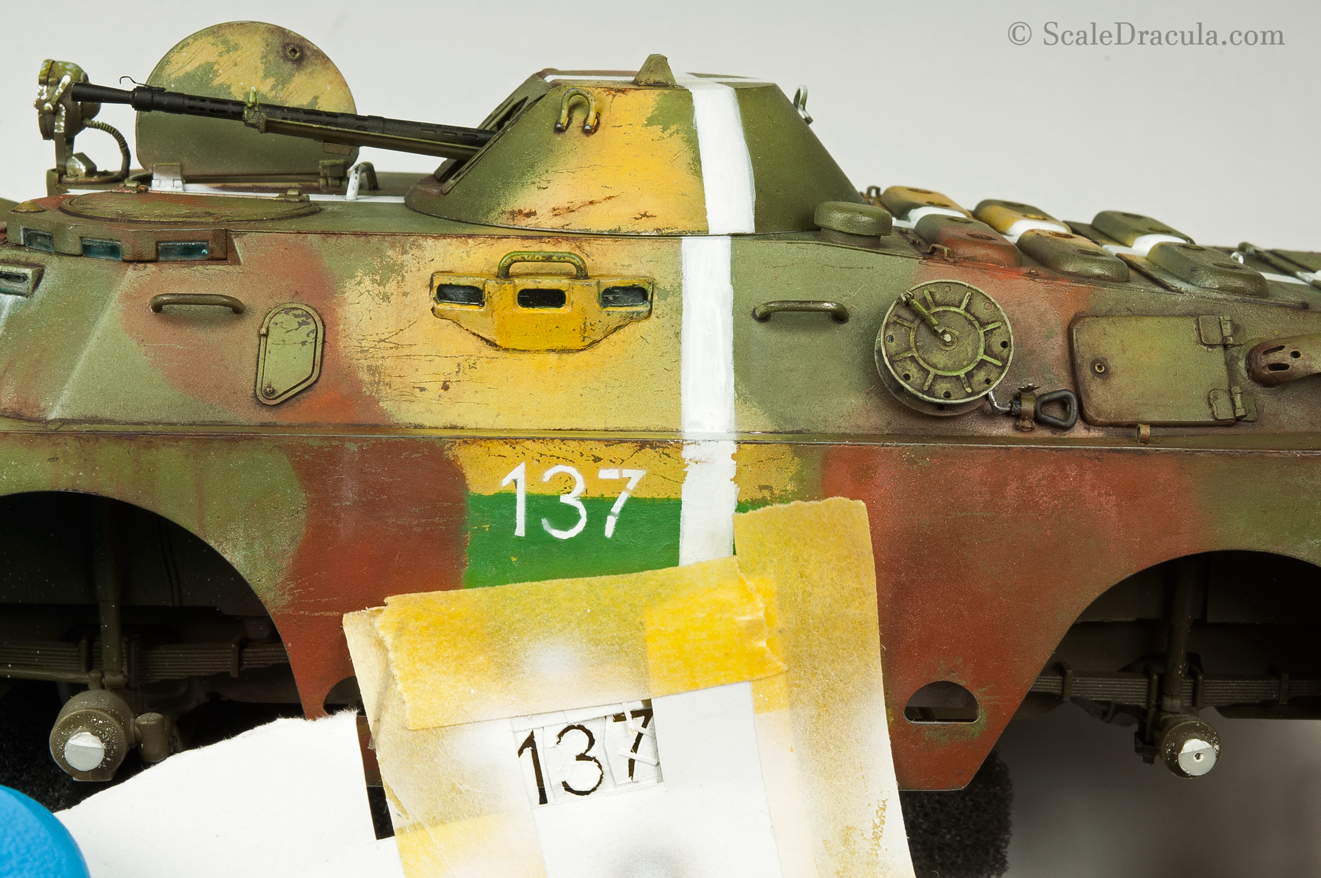Numbers painted with stencil, BRDM-2 by Trumpeter
