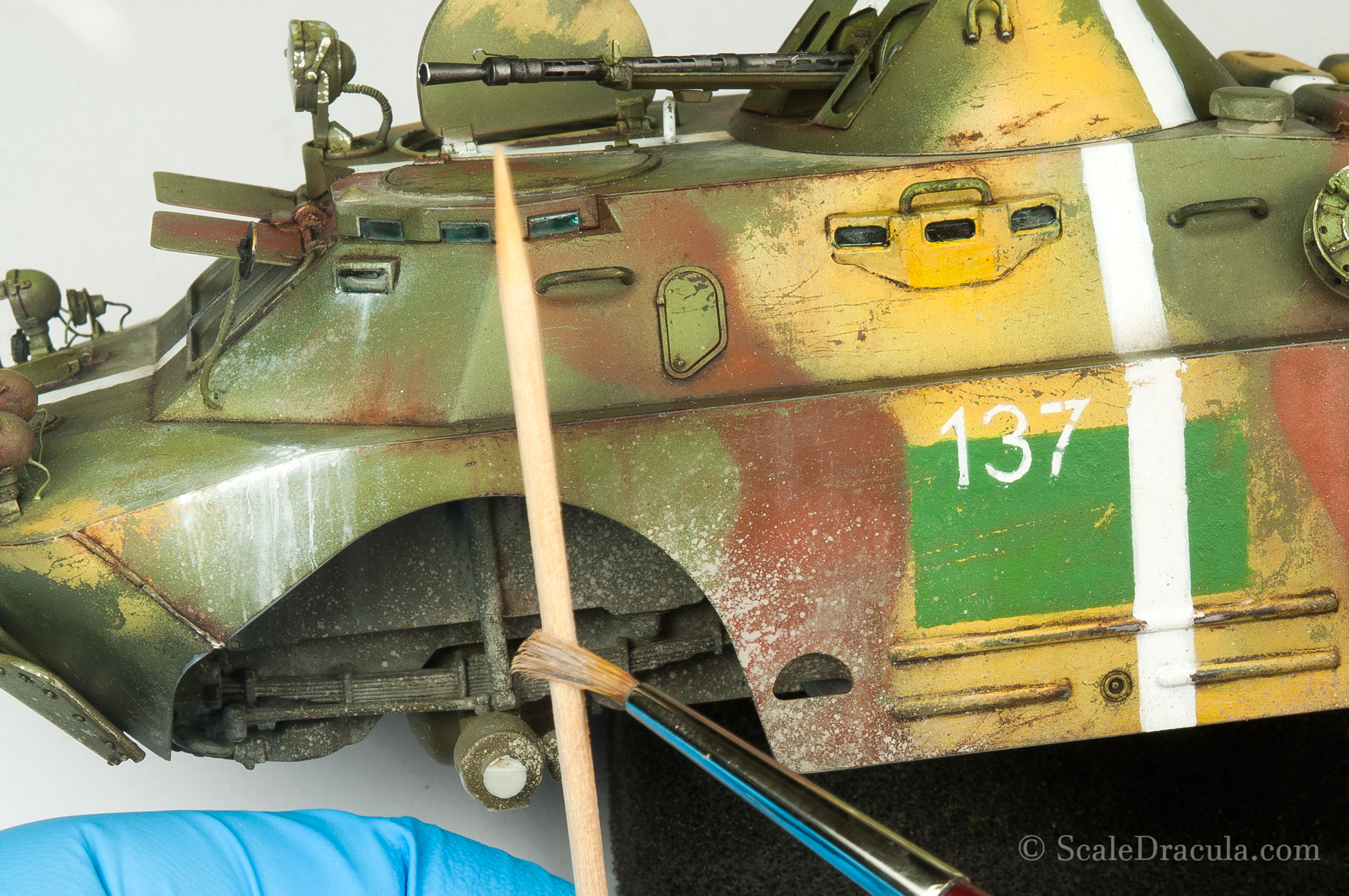 Mud splashes done with oil paints, BRDM-2 by Trumpeter