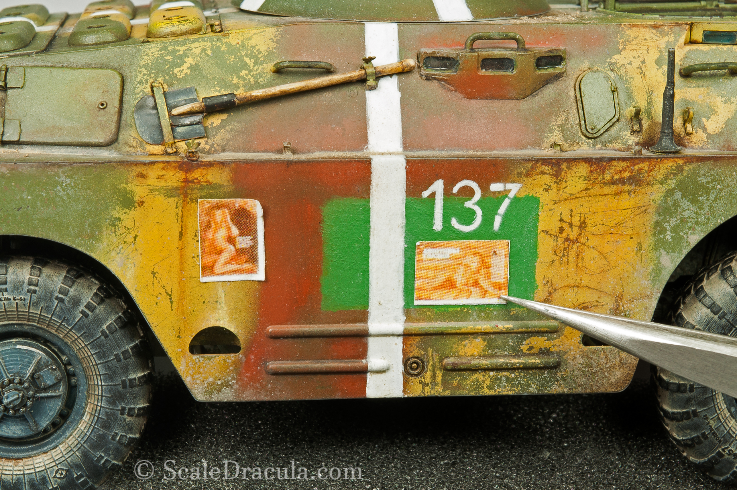 Working on the poster, BRDM-2 by Trumpeter