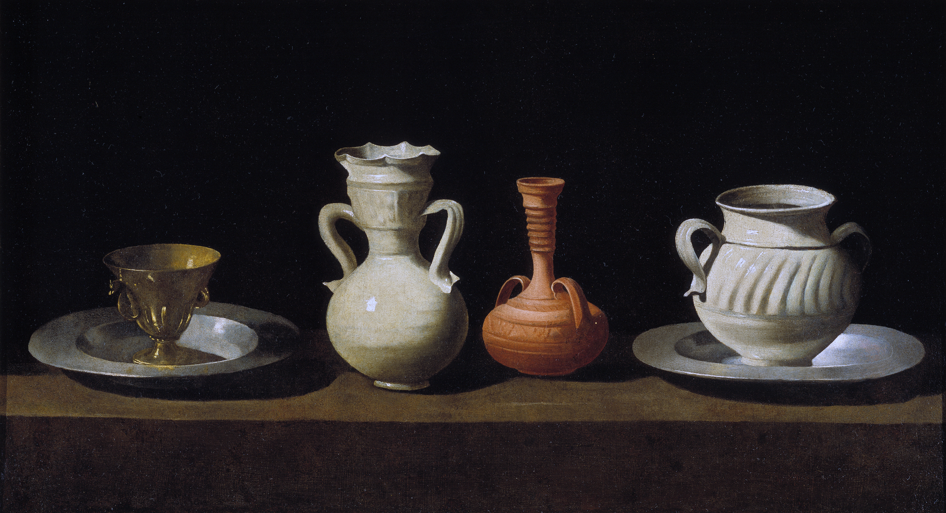 Bodegon de recipientes by Francisco de Zurbaran