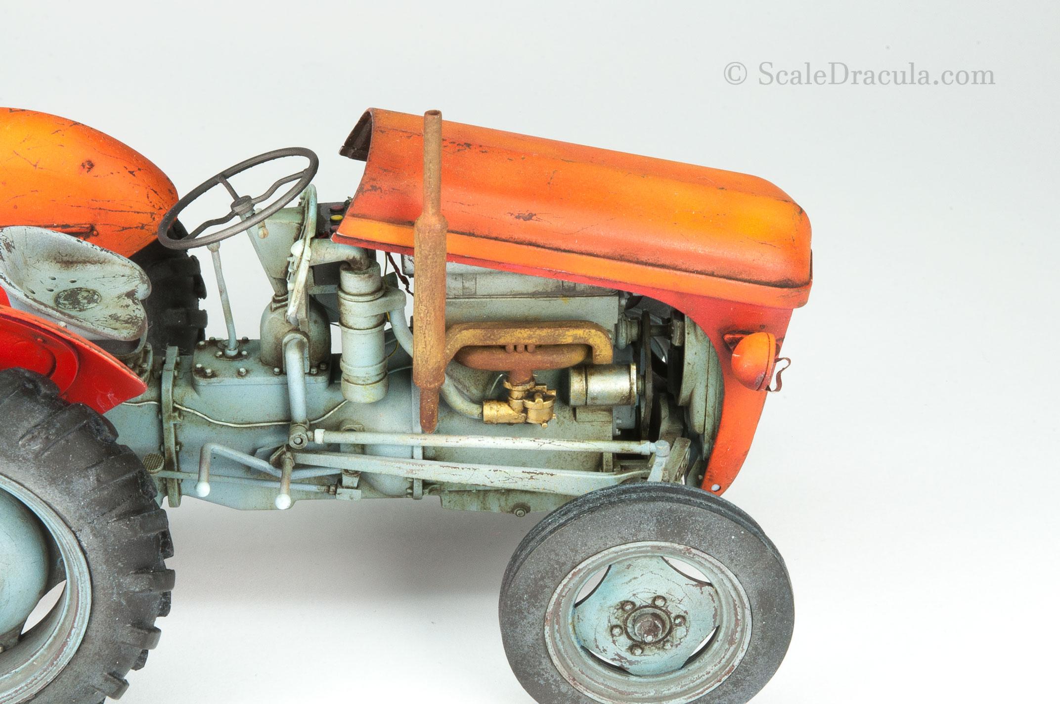 Details of engine before weathering 2, Ferguson by Heller
