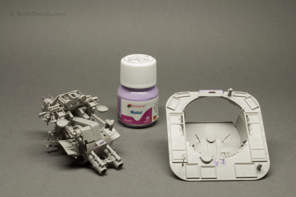 Securing parts with Maskol