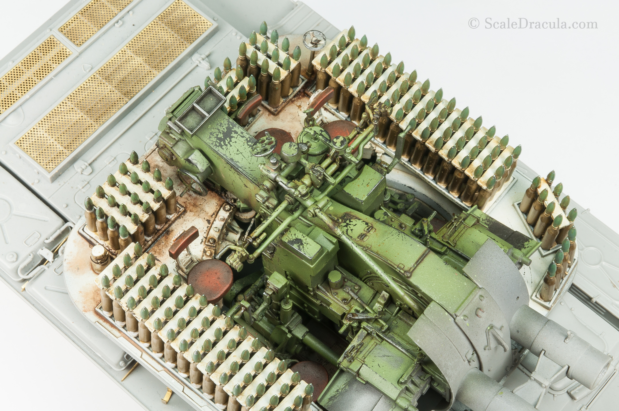 Finished interior, ZSU-57 by TAKOM