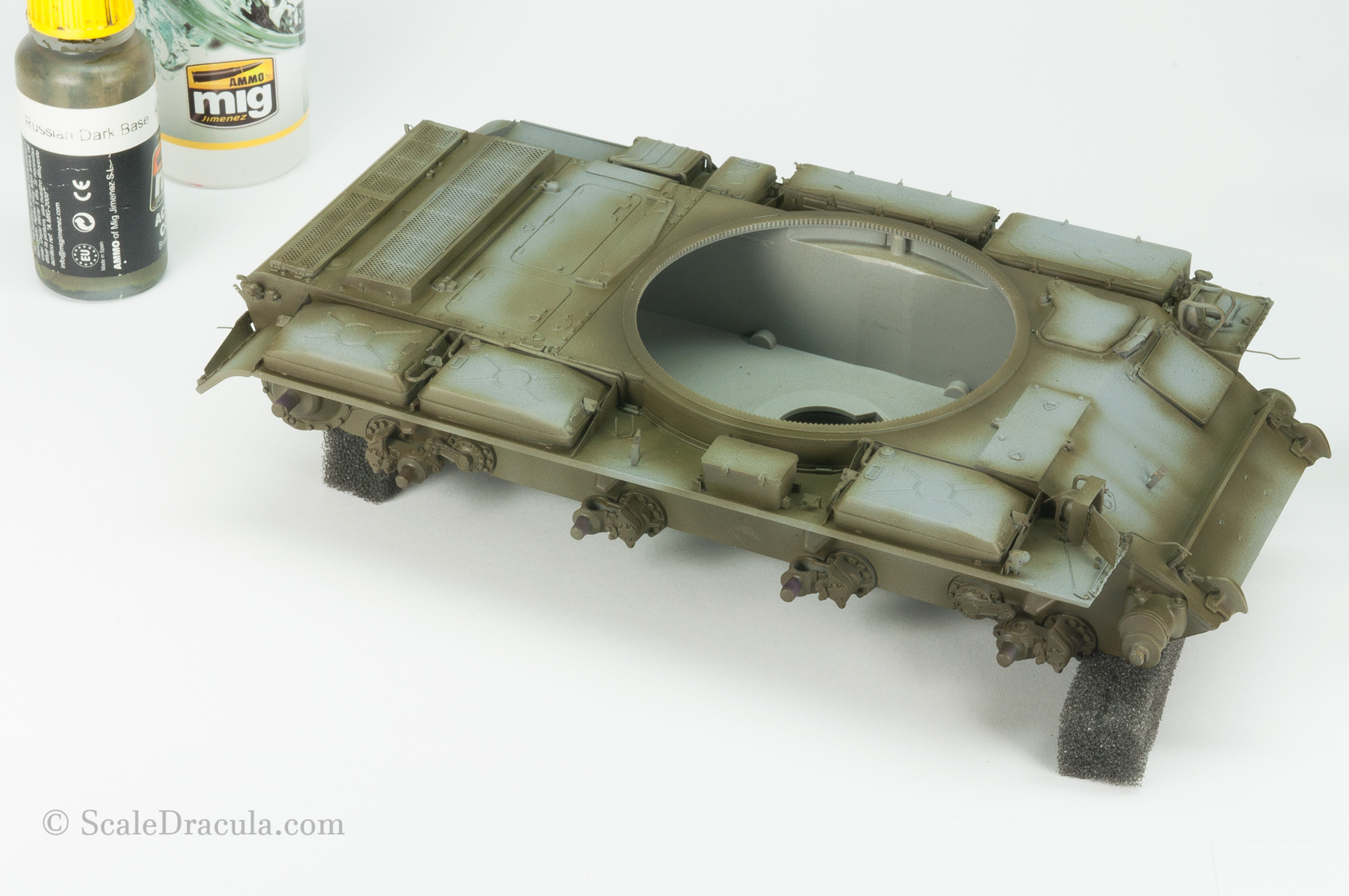 Dark green preshade, ZSU-57 by TAKOM