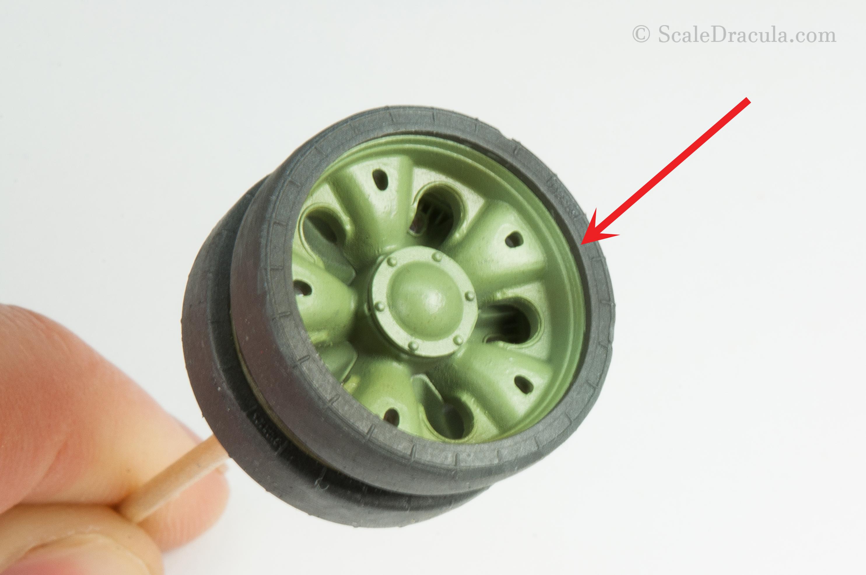 Wheel detail, ZSU-57 by TAKOM
