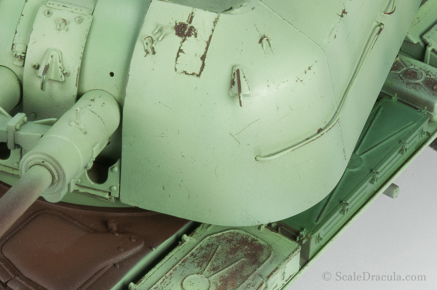 The model during the chipping stage, ZSU-57 by TAKOM