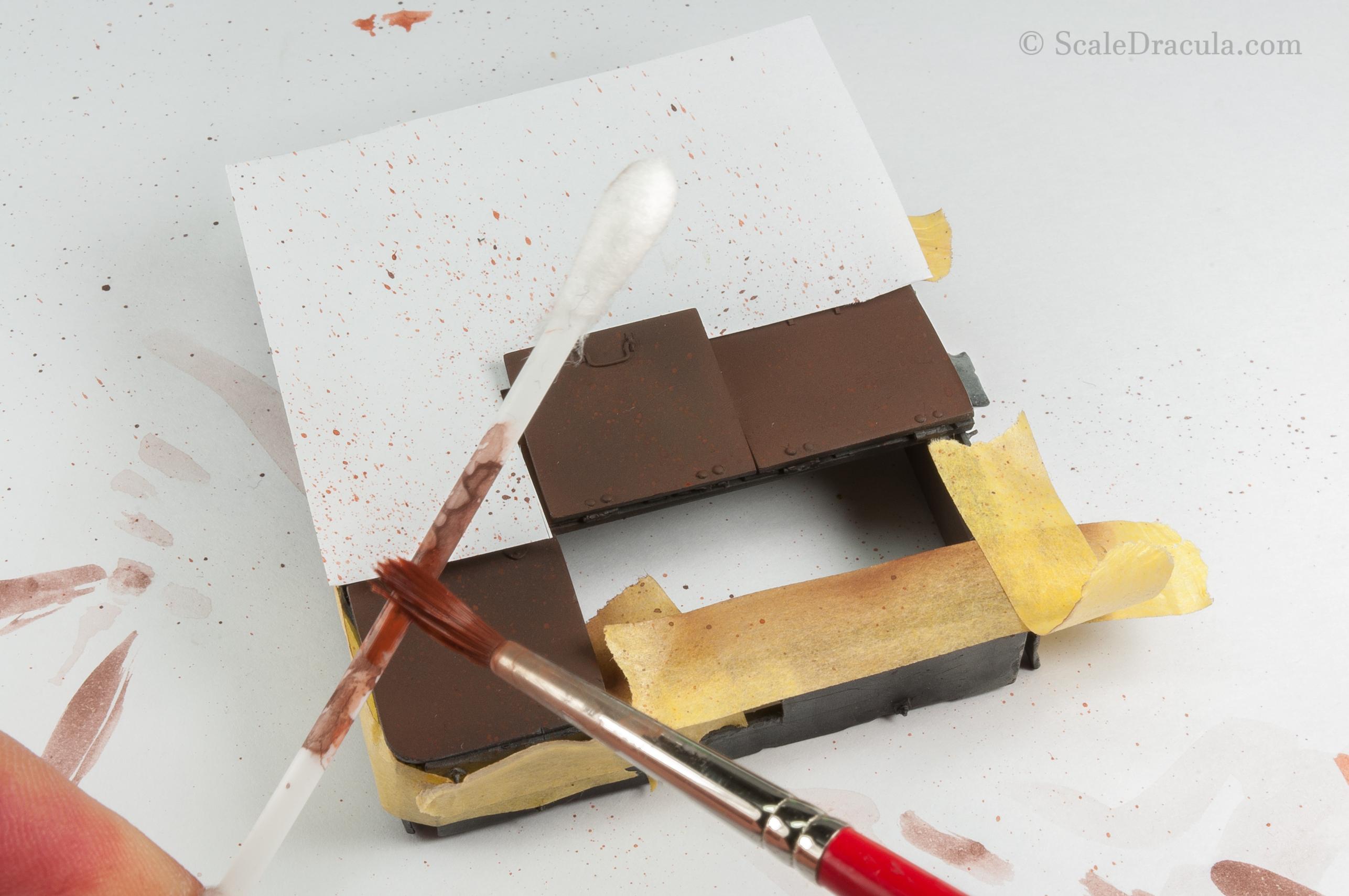 Speckling technique on rust, ZSU-57 by TAKOM