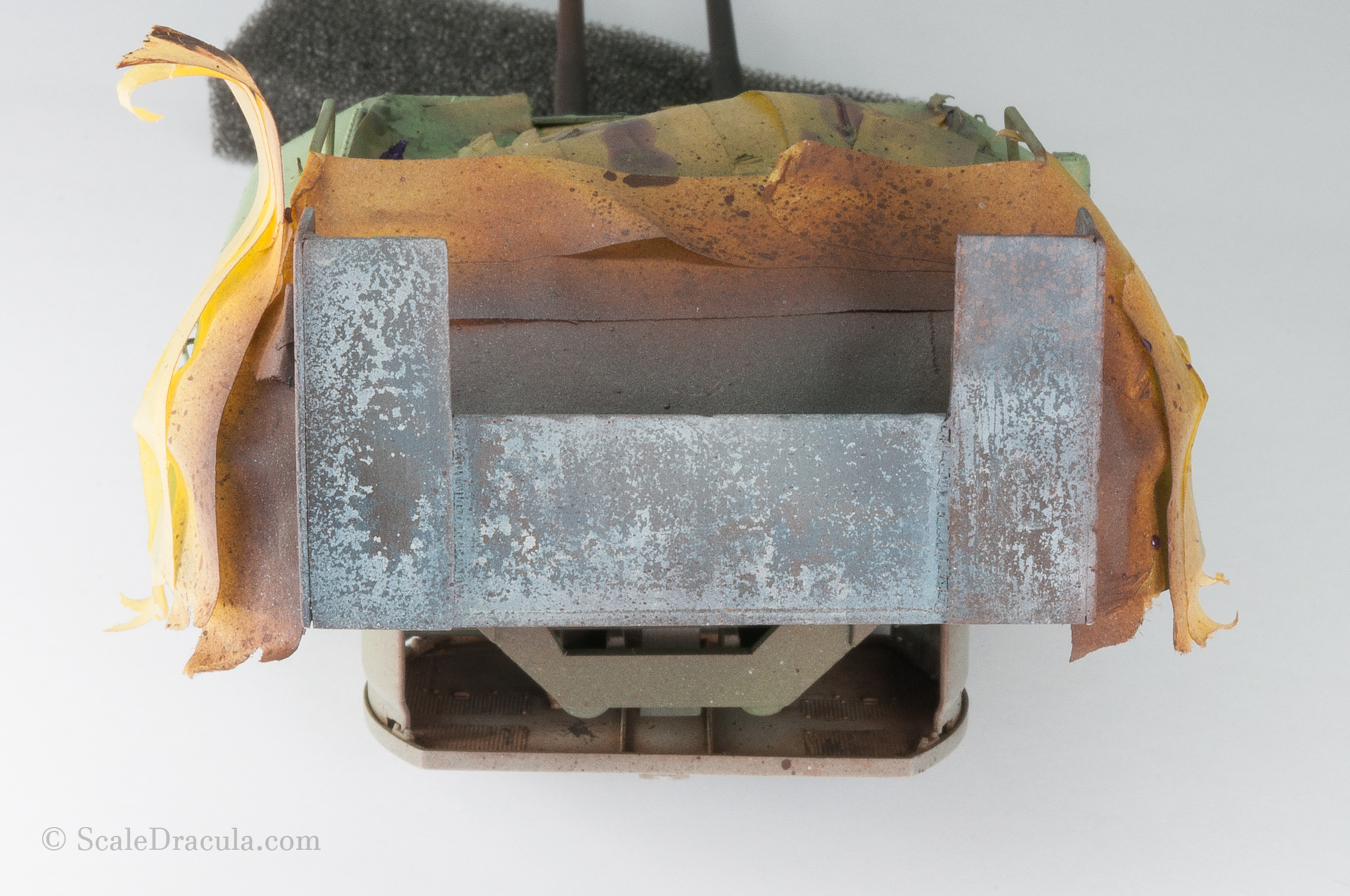 Base for painting rust, ZSU-57 by TAKOM