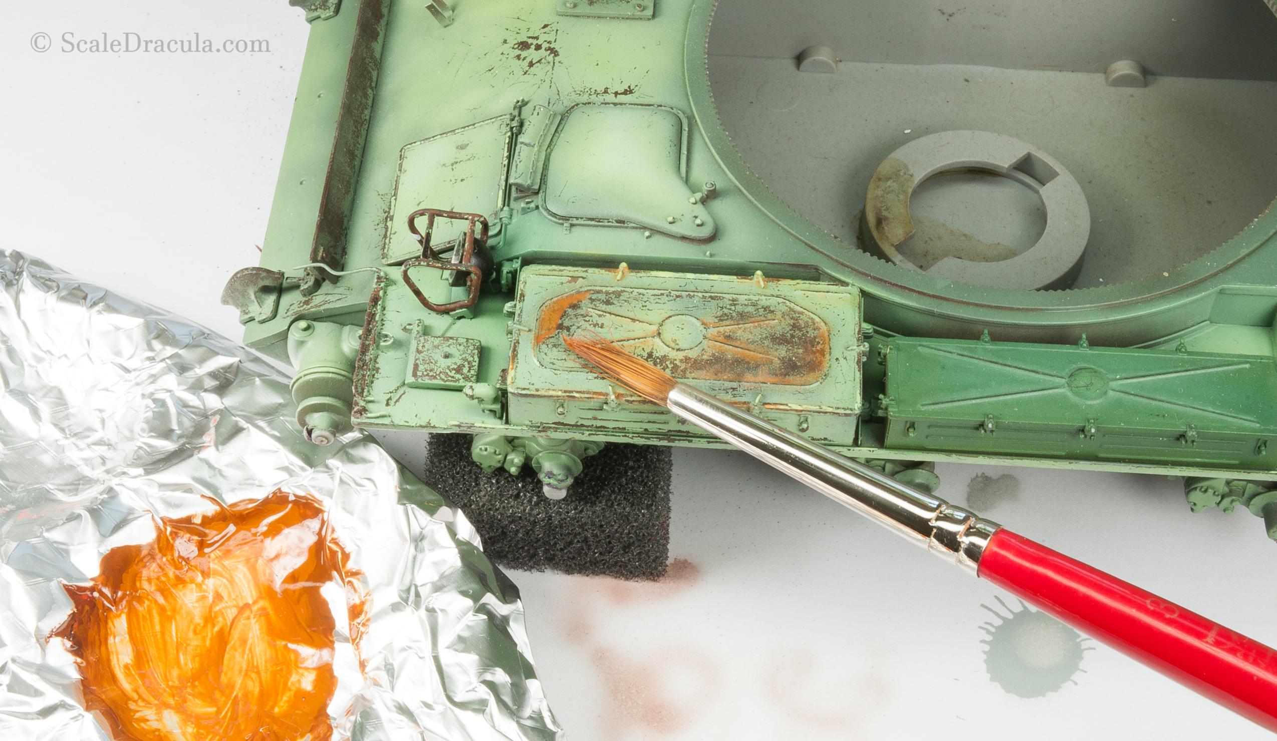 Rust on the main hull, ZSU-57 by TAKOM