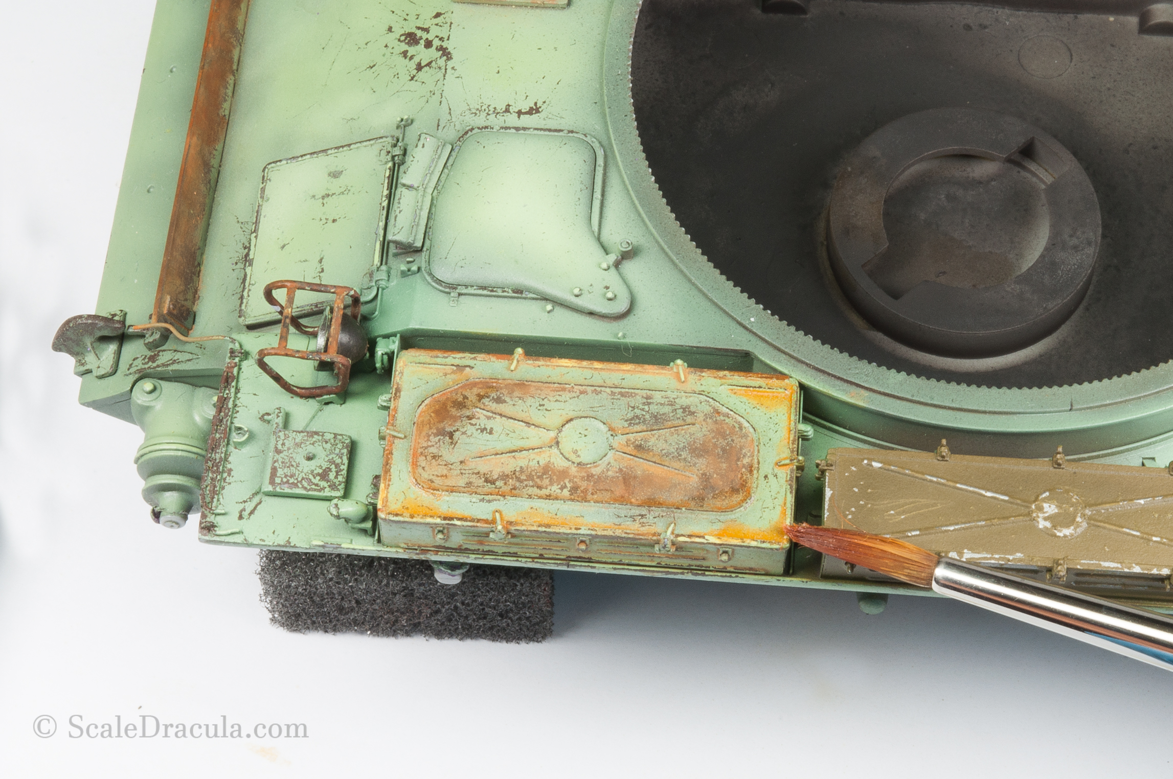 The rust done with speckling. ZSU-57 by TAKOM
