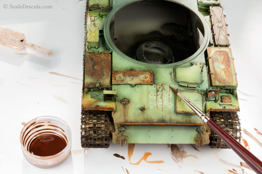 Weathering with oils, ZSU-57 by TAKOM