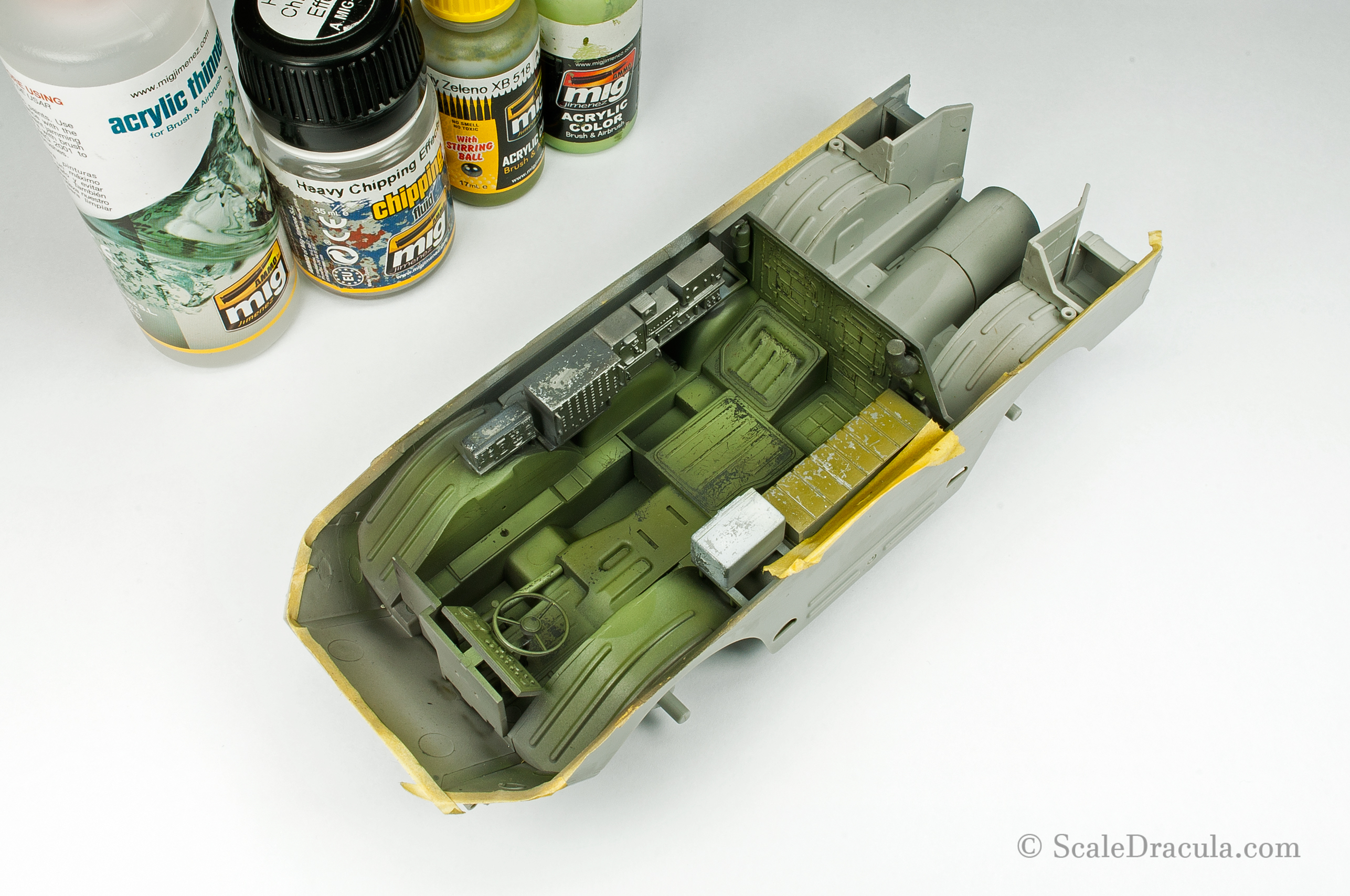 Base coat with chipping, BRDM-2 by Trumpeter