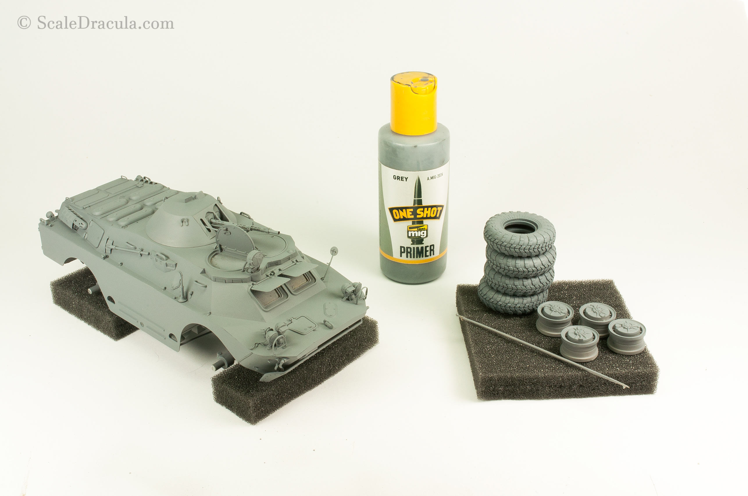 Model primed with One Shot Primer, BRDM-2 by Trumpeter
