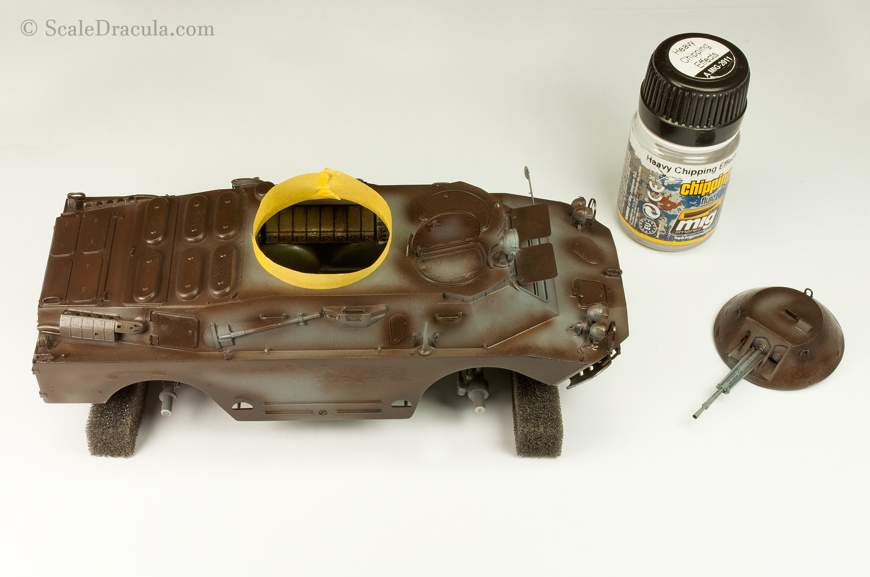 Layer of chipping fluid, BRDM-2 by Trumpeter