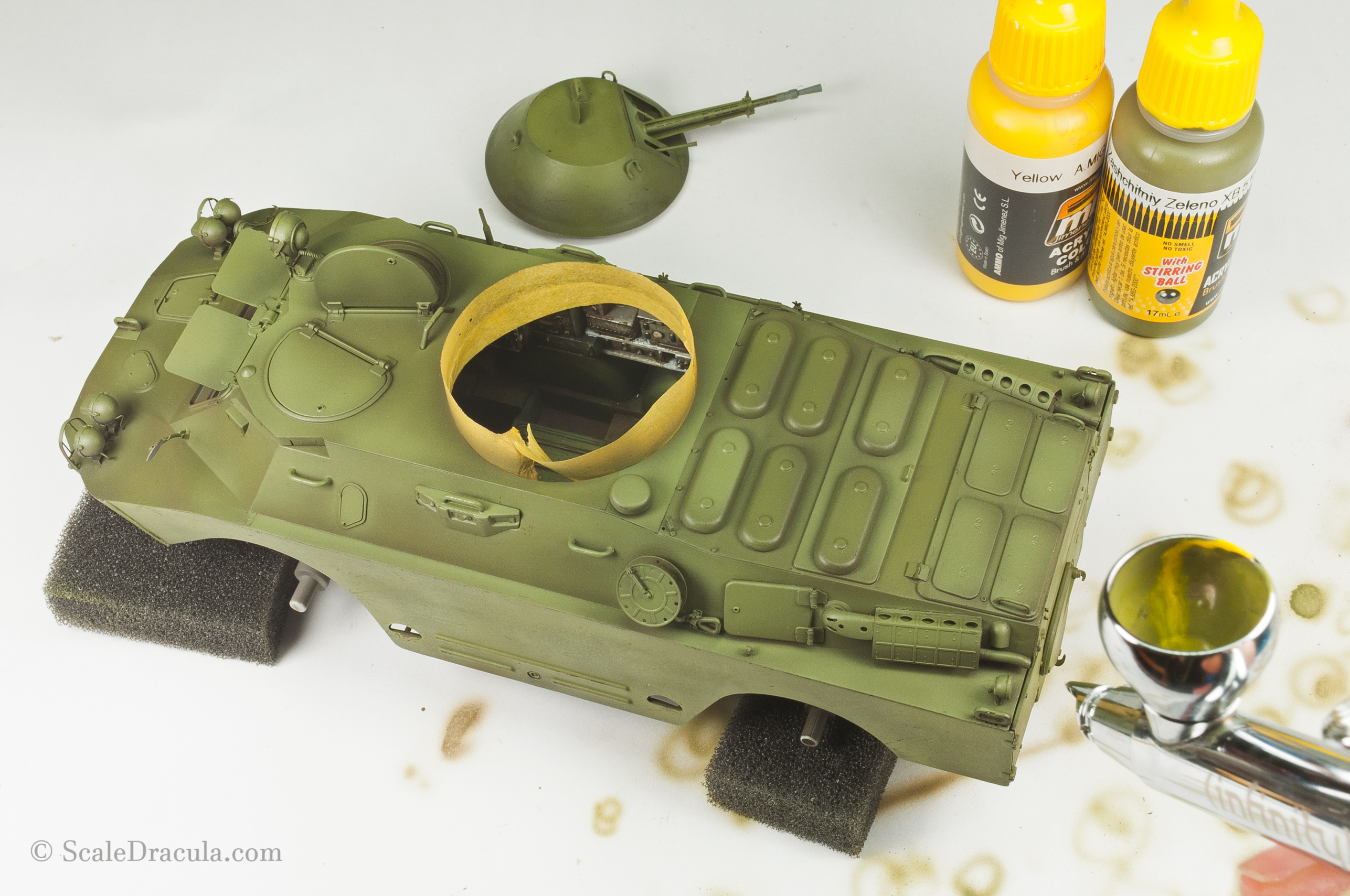 Finishing colour modulation, BRDM-2 by Trumpeter