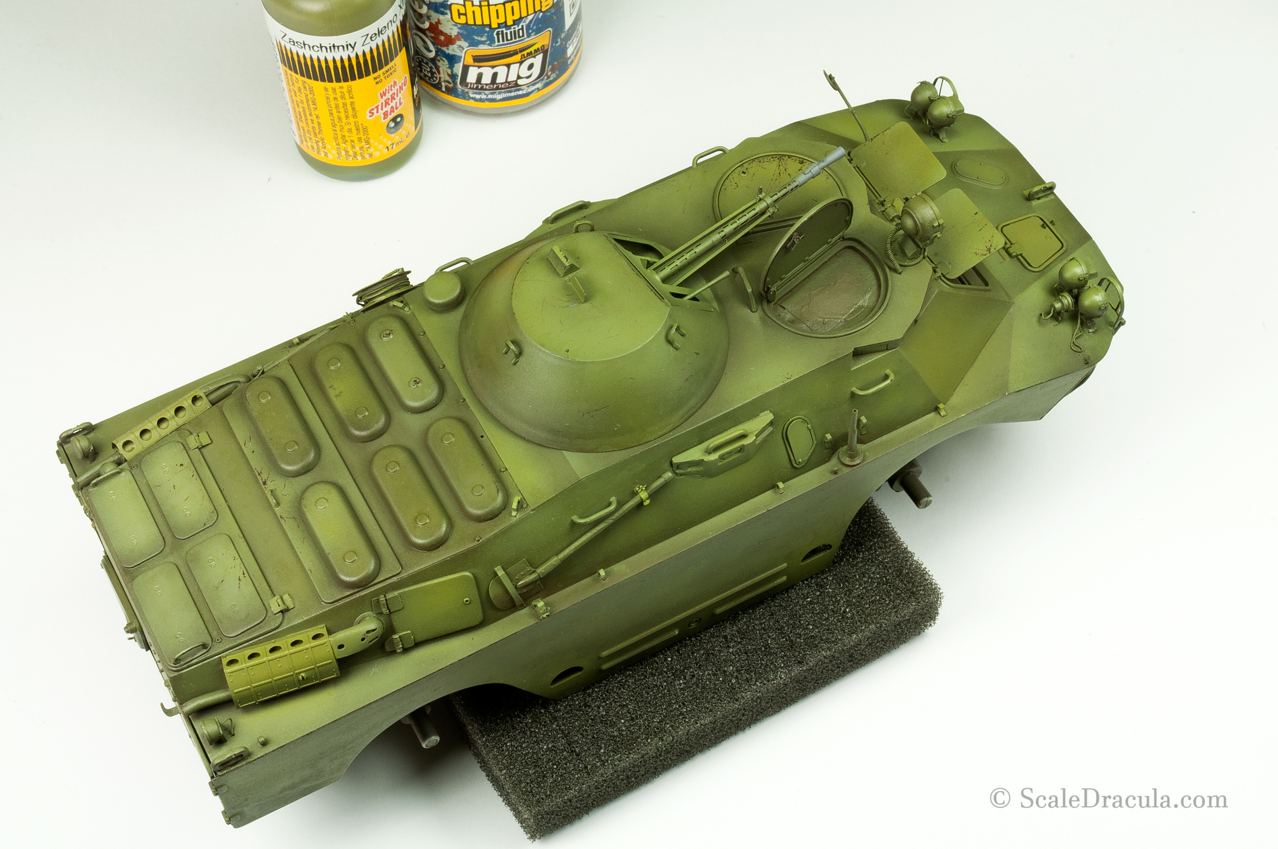 Model after chipping and modulation, BRDM-2 by Trumpeter