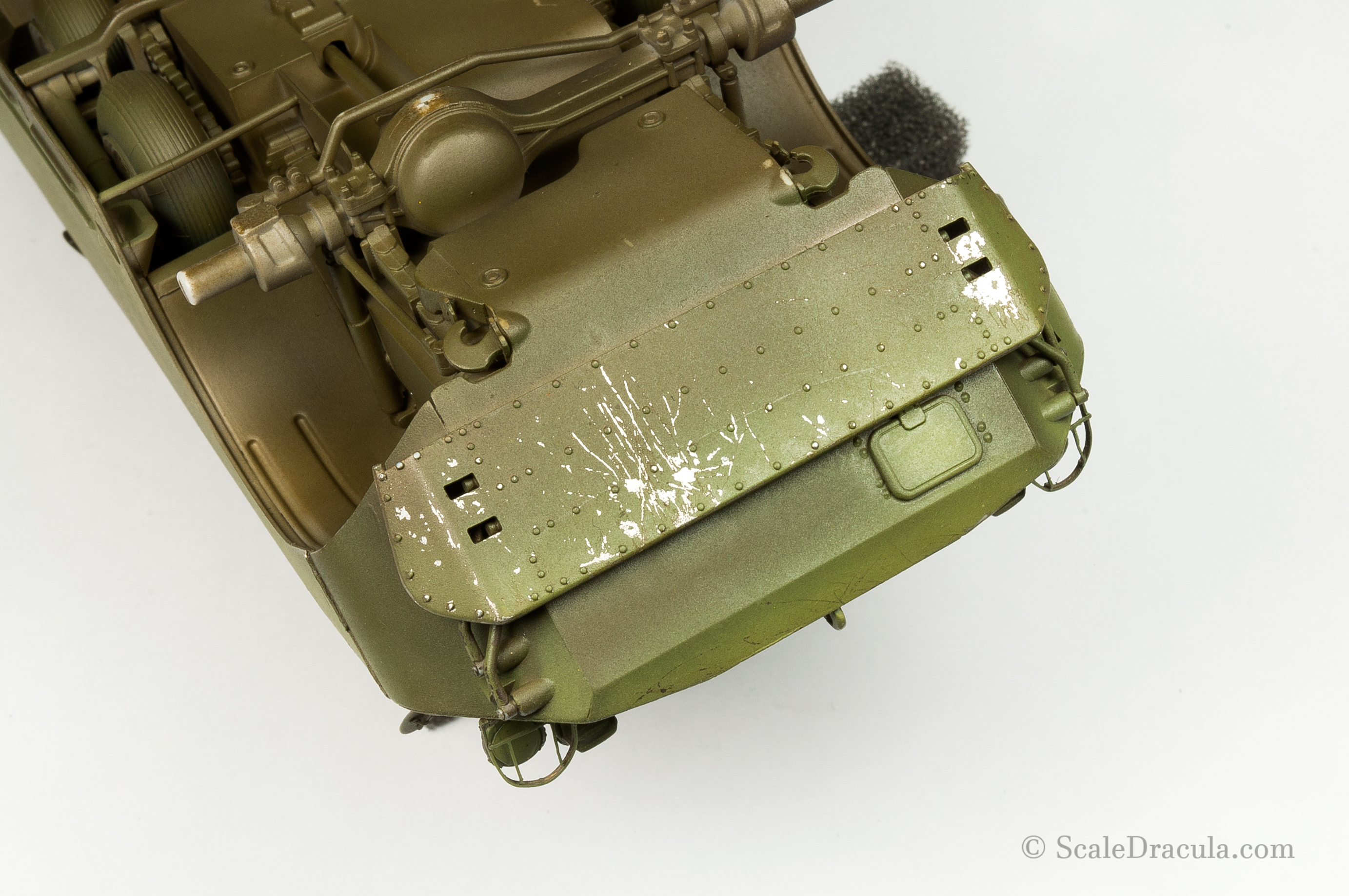 Chipping on the weave breaker, BRDM-2 by Trumpeter