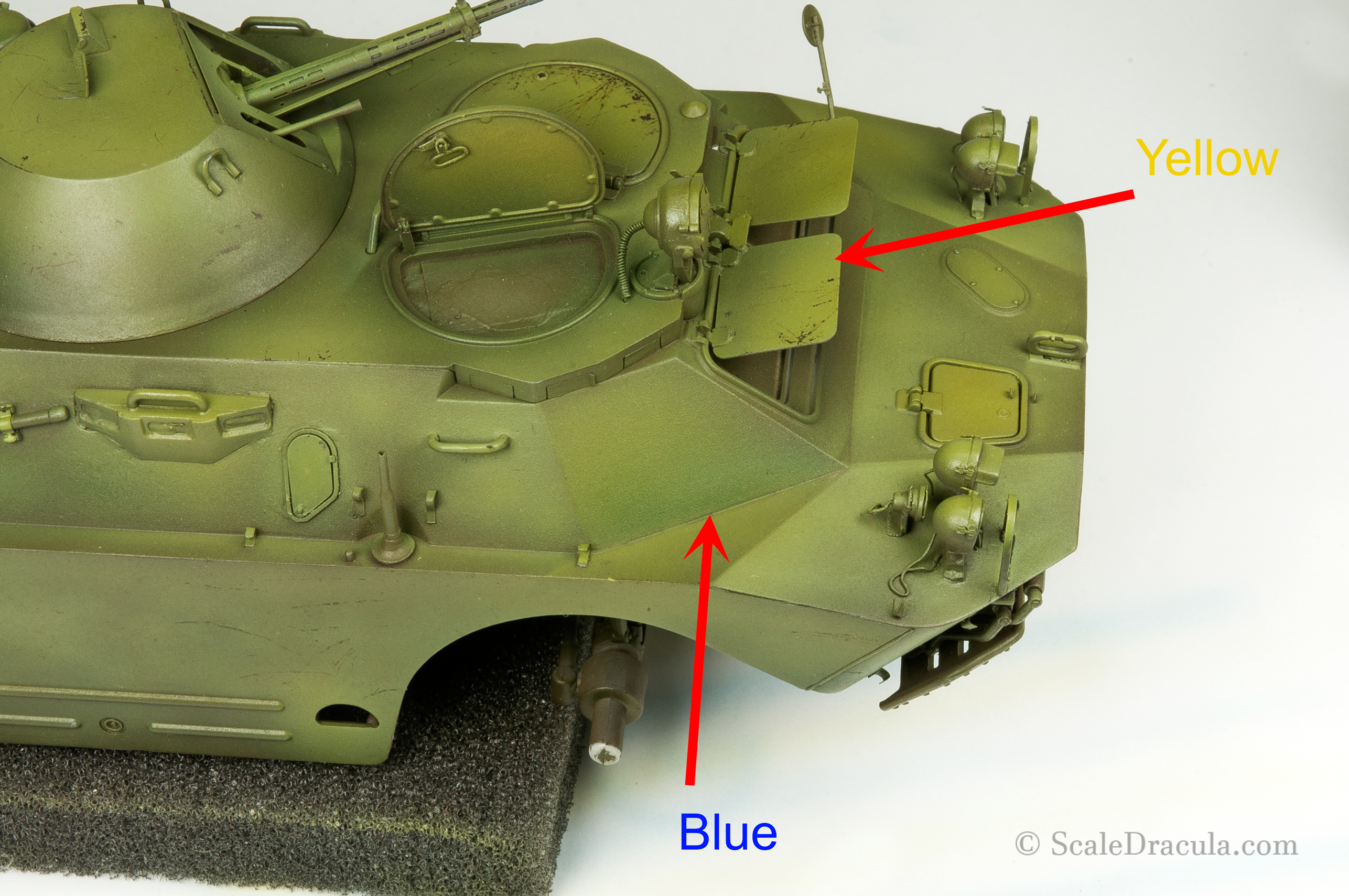Filters applied with airbrush, BRDM-2 by Trumpeter