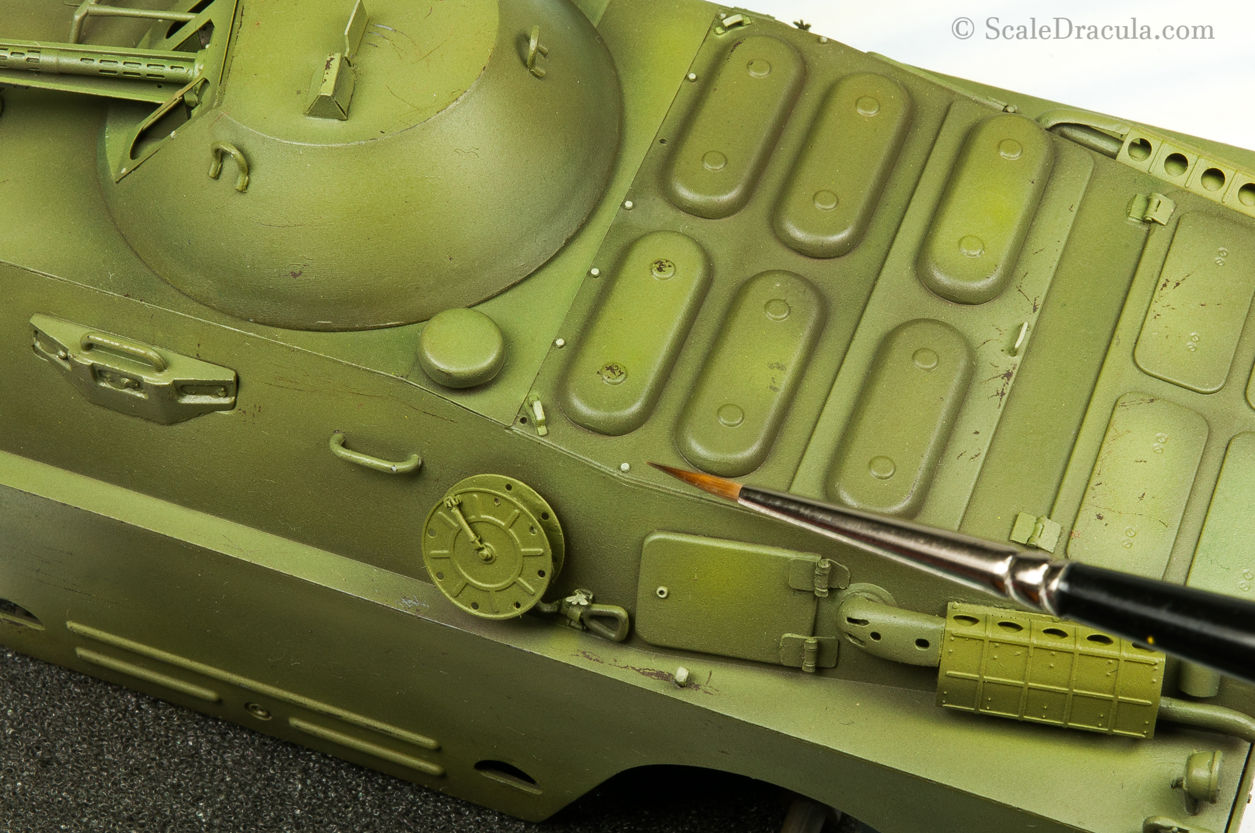 Highlighting details with brush, BRDM-2