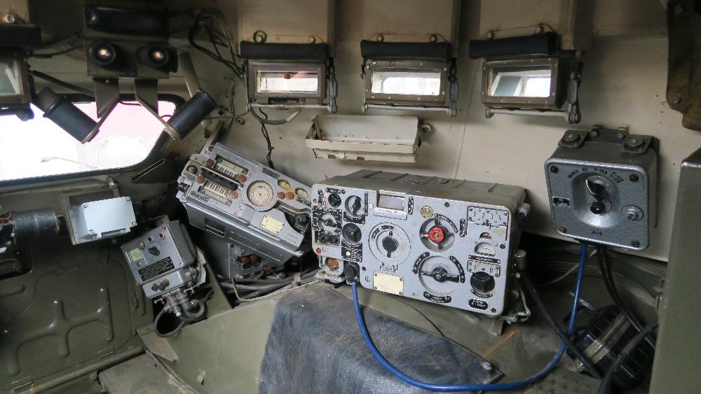 BRDM-2 interior radio