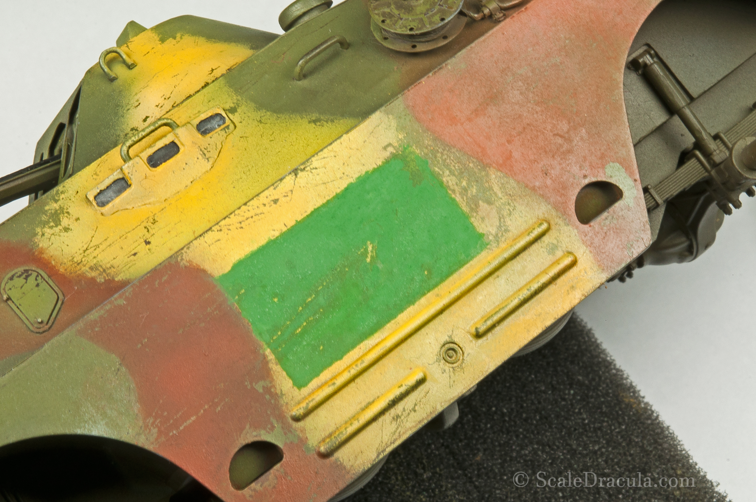 Thick paint creates texture contrast, BRDM-2 by Trumpeter