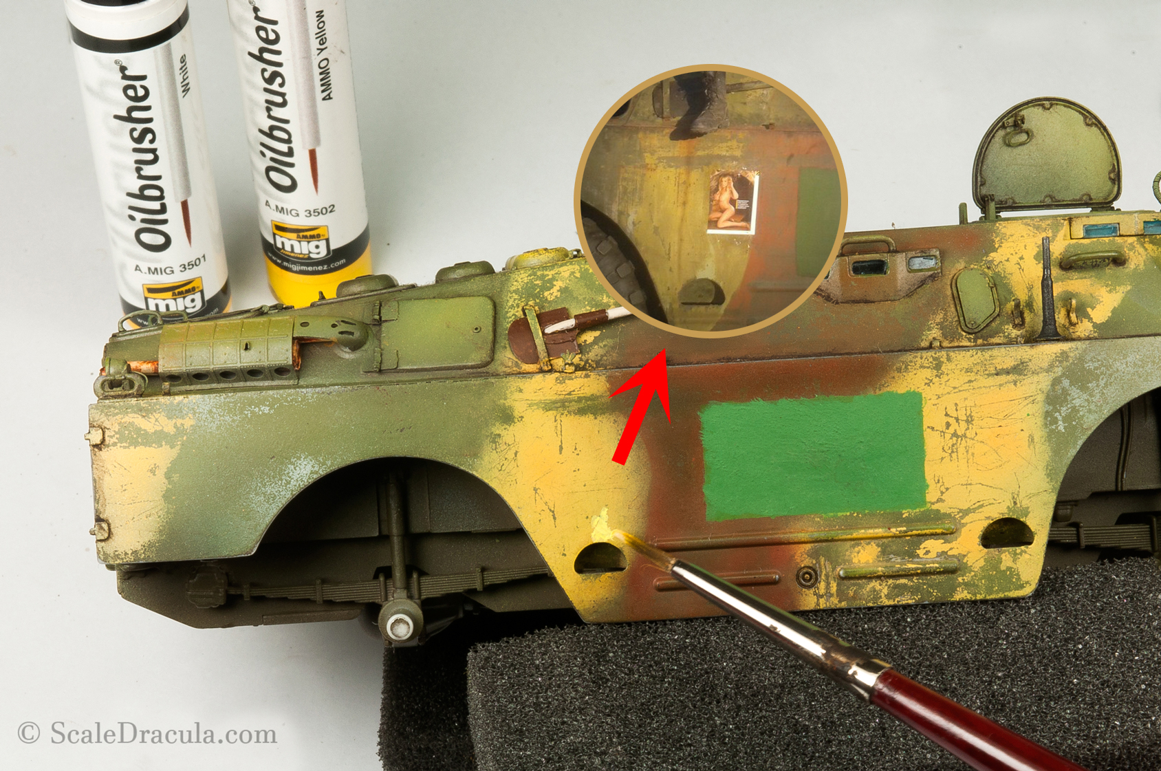 Weathering with oilbrushers, BRDM-2 by Trumpeter
