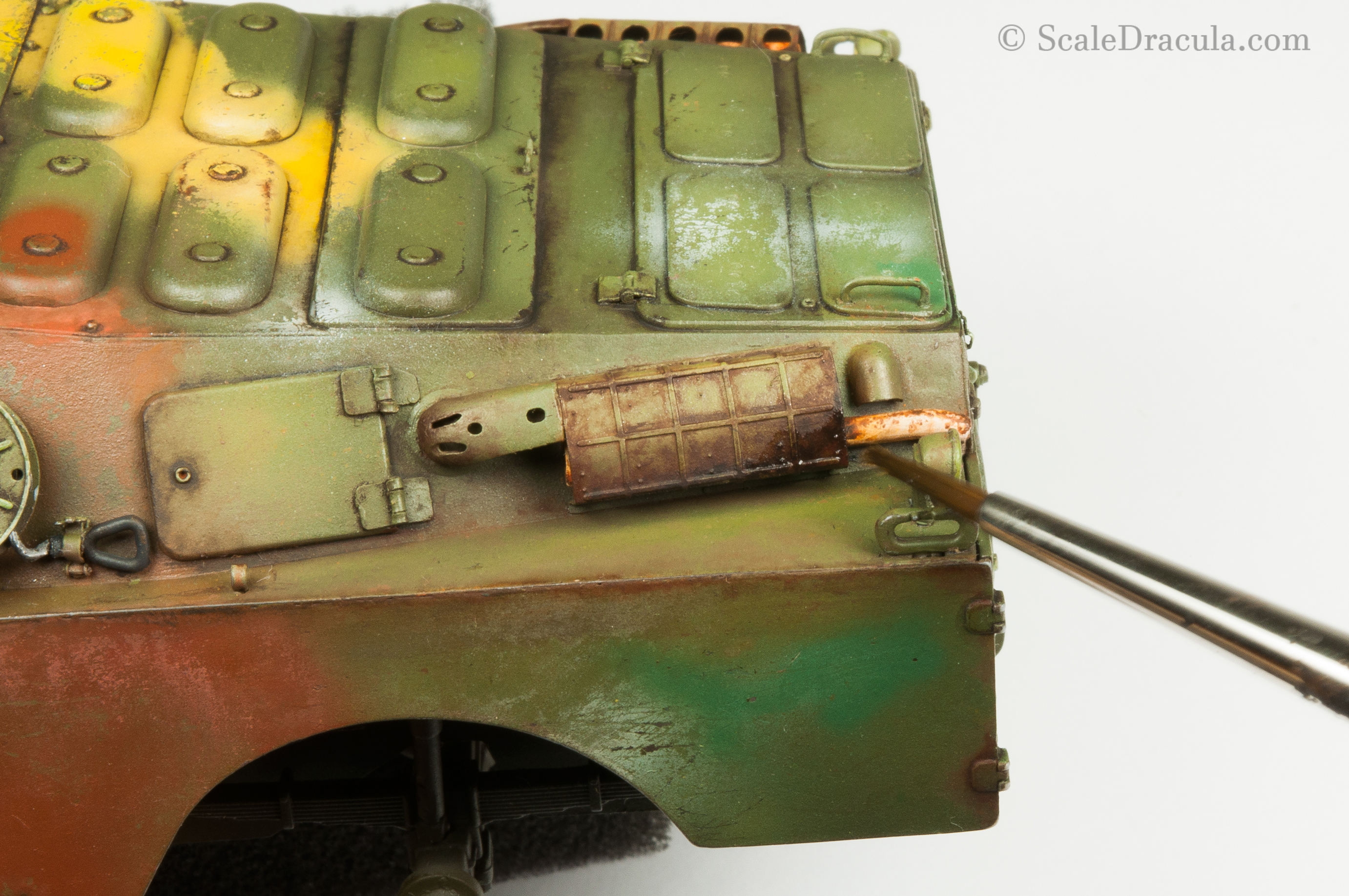 Painting rust with oils, BRDM-2 by Trumpeter