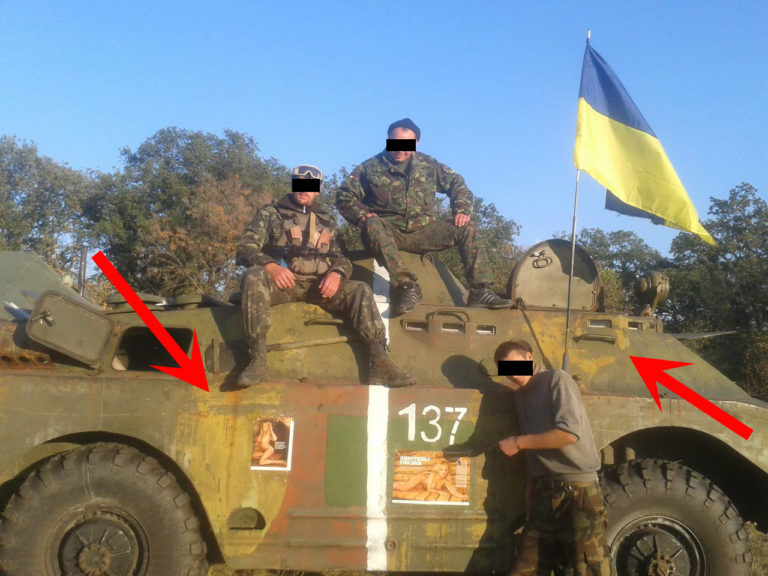 BRDM-2 Ukraine, yellow camouflage chipping