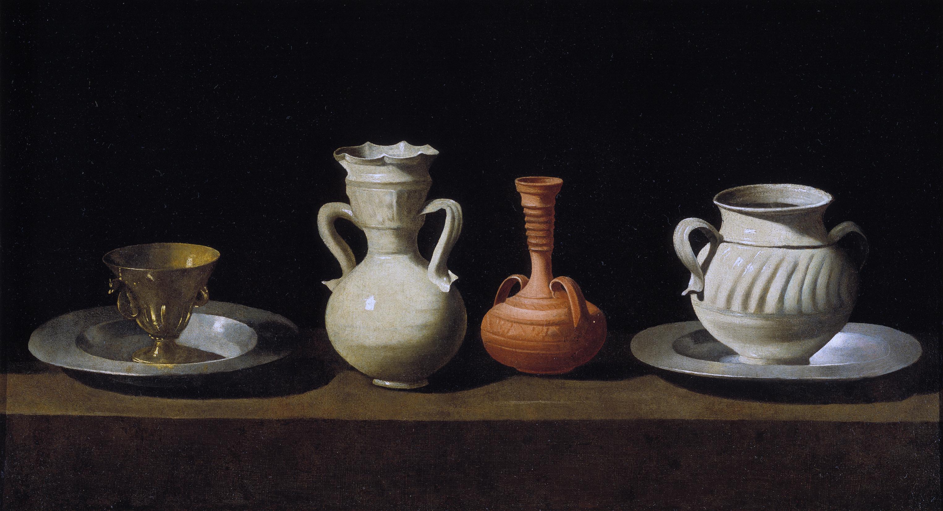 Bodegon de recipientes by Francisco de Zurbaran